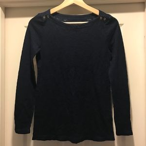 J. Crew Indigo Painter Tee